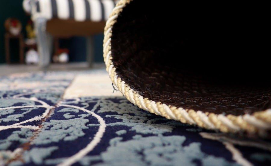 فرش ماشینی فانتزی تکه دوزی ( چهل تیکه ) کد 300458