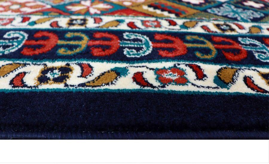 فرش ماشینی گوزل کلکسیون گبه کد 31 زمینه سرمه ای