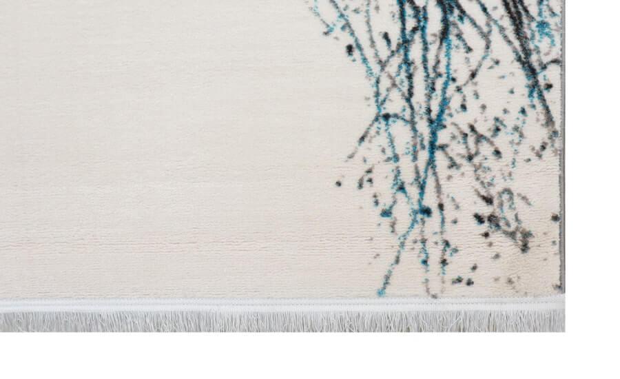 فرش فانتزی کلکسیون کهنه نما کد 580 زمینه سفید