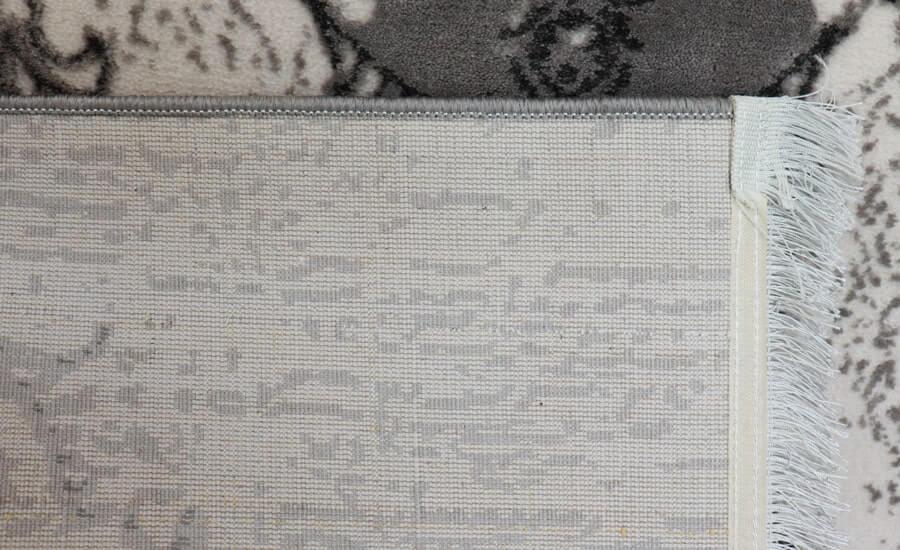 فرش فانتزی کلکسیون کهنه نما کد 617 زمینه طوسی