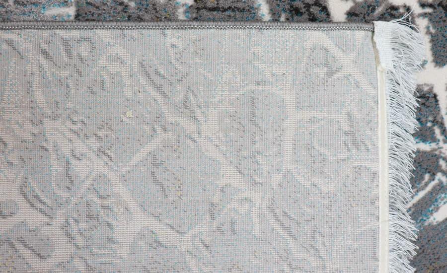 فرش فانتزی کلکسیون کهنه نما کد 618 زمینه طوسی