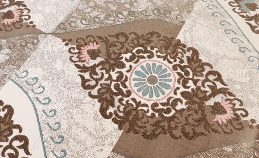 فرش ماشینی آنا کلکسیون فانتزی کد 5011 زمینه کرم