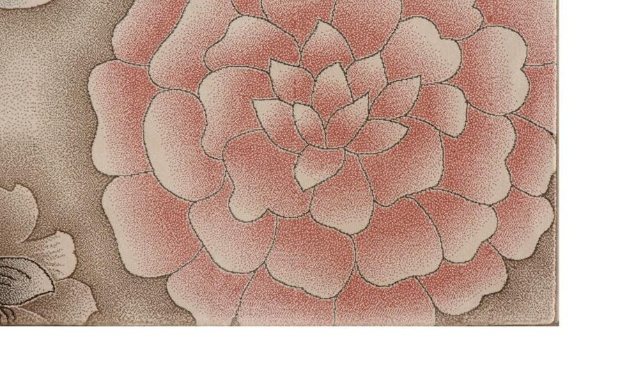 فرش ماشینی آنا کلکسیون فانتزی کد 5012 زمینه کرم