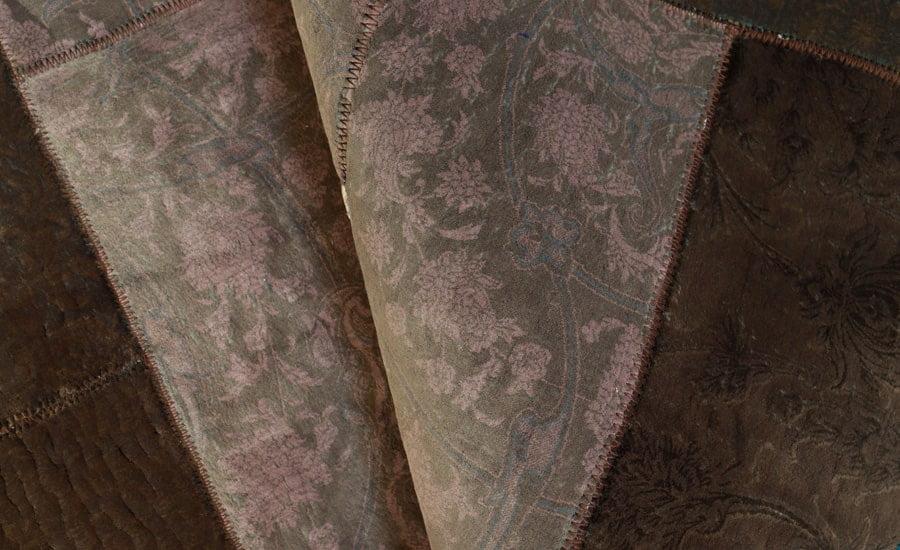 فرش ماشینی فانتزی تکه دوزی ( چهل تکه ) کد 300461