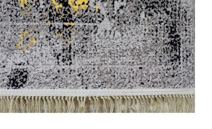 فرش فانتزی کلکسیون کهنه نما کد 700111 زمینه طوسی,زرد