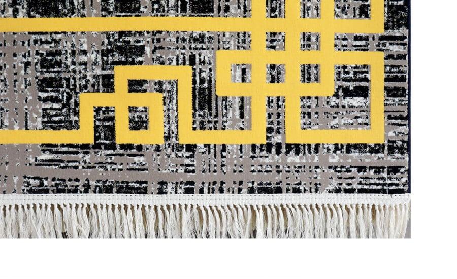 فرش فانتزی کلکسیون ورساچه کد 700150 زمینه مشکی