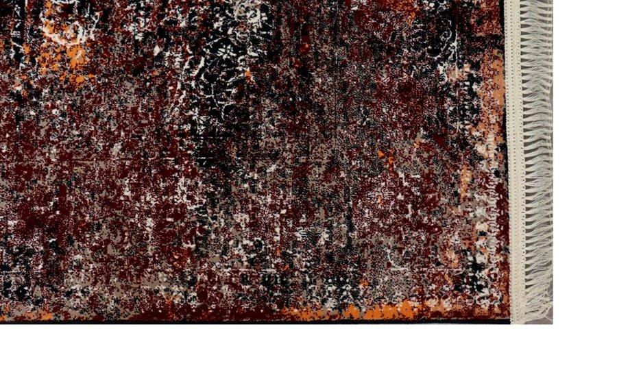 فرش فانتزی کلکسیون کهنه نما کد 700189 زمینه روناسی