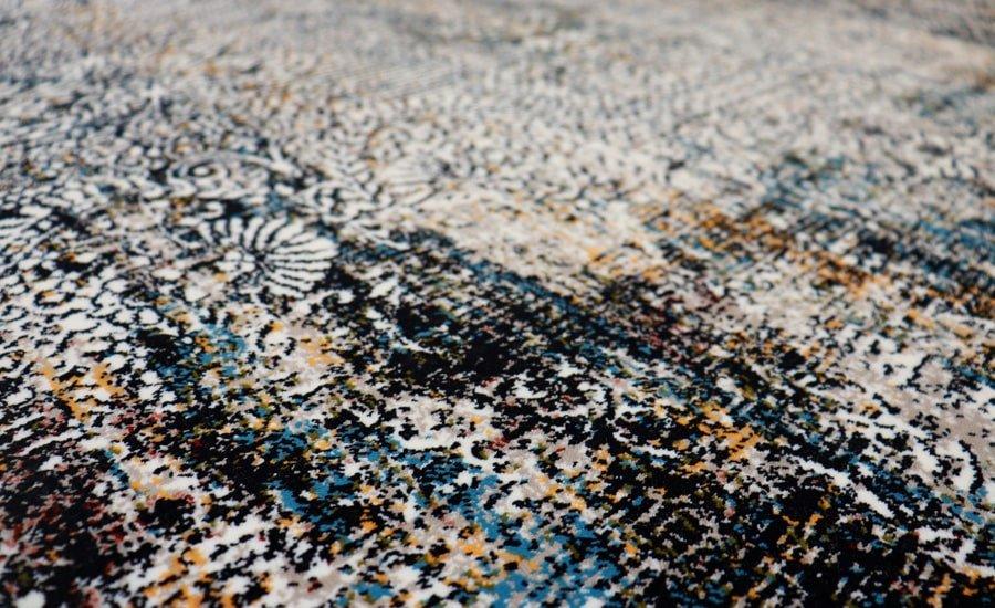 فرش فانتزی کلکسیون کهنه نما کد 700144 زمینه طوسی