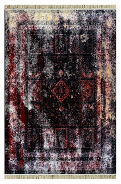 فرش فانتزی کلکسیون کهنه نما کد 700104 زمینه قرمز