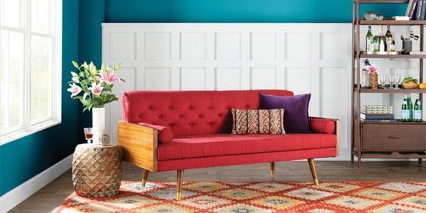 رنگ فرش مناسب برای مبلمان قرمز