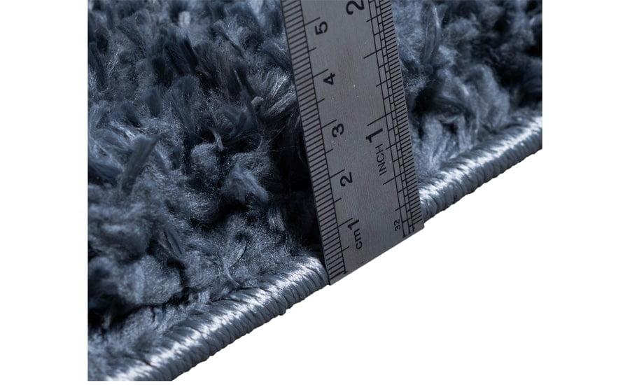 فرش فانتزی شگی ( پرزبلند ) فلوکاتی رنگ ذغالی