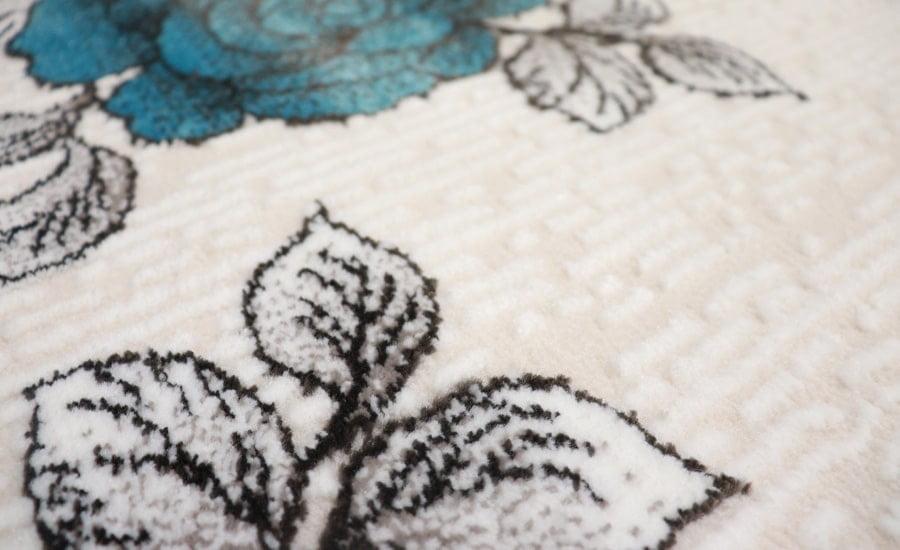 فرش فانتزی کلکسیون مدرن کد 552 زمینه سفید