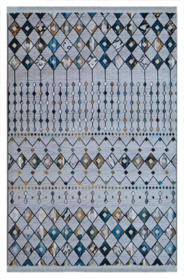 فرش فانتزی کلکسیون مراکشی کد 648 زمینه سفید