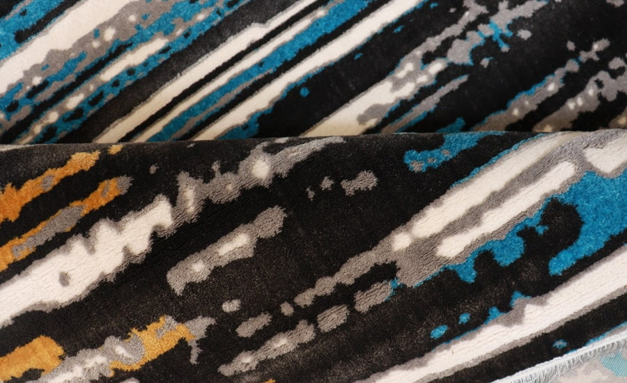 فرش فانتزی کلکسیون مدرن کد 555 زمینه چند رنگ