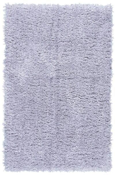 فرش فانتزی شگی ( پرزبلند ) فلوکاتی رنگ نقره ای