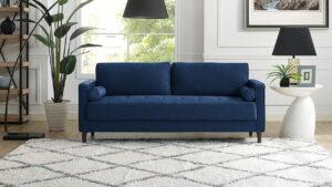 رنگ فرش مناسب برای مبلمان آبی
