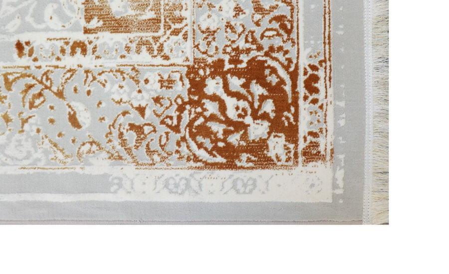 فرش فانتزی کلکسیون کهنه نما کد 430 زمینه سفید