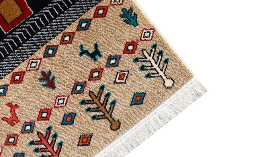 فرش ماشینی سبلان کلکسیون گبه کد 61 زمینه چندرنگ