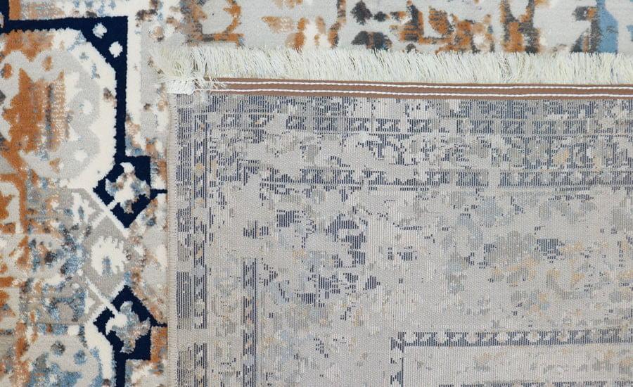 فرش فانتزی کلکسیون کهنه نما کد 412 زمینه طوسی