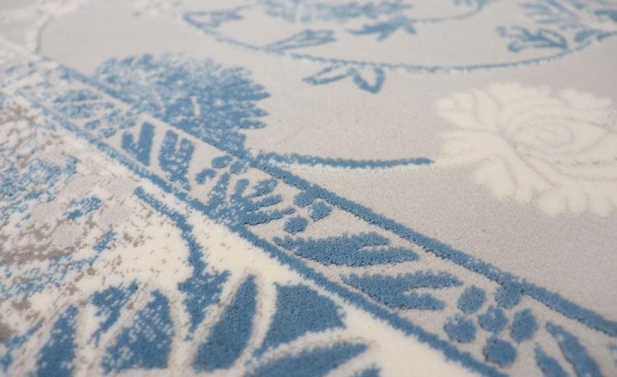 فرش فانتزی کلکسیون کهنه نما کد 425 زمینه سفید