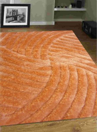 فرش شگی کد 5008 نارنجی